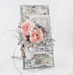 Shabby Chic Cards, Paper Cards, Bird Cage, Creative Cards, Scrapbook Cards, Unique Weddings, Wedding Cards, Cardmaking, Decorative Boxes