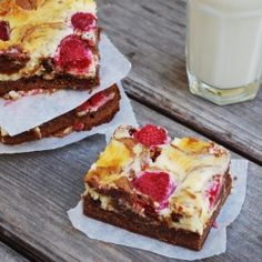 Raspberry Cheesecake Brownies by Family Spice