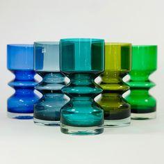 Riihimaki glass from Blue Glass Vase, Purple Glass, Glass Art, Junk Mail, Coloured Glass, Lassi, Turquoise Glass, Pottery Designs, Retro Home Decor