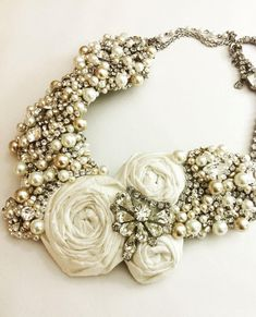 Bridal Statement Necklace Vintage by HelenaNoelleCouture on Etsy