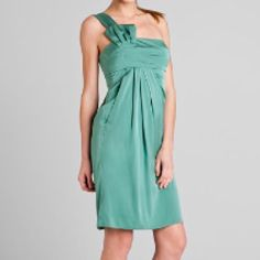 NWT Armani Collezioni 95% SILK Shoulder Dress NEW WITH TAGS Armani Collezioni One Shoulder Silk Dress in a mint/seafoam green size 10. 39 inches from shoulder to hem with an asymmetrical neck line and pleats. 95% silk 5% polyester. Dry clean only. Comes with the original hanger and bag' Armani Dresses