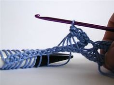 Crochet Spot » Blog Archive » How To Crochet: Broomstick Lace - Crochet Patterns, Tutorials and News