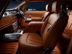 Phantom Coupe Aviator 2012 –  Rolls-Royce custom interior brown grey silver black console