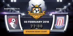 Prediksi Bola Jitu Bournemouth vs Stoke City 03 Februari 2018 yang akan berlangsung pada laga pertandingan Kompetisi Liga Inggris Premier League ditayangkan pada hari Minggu, 03 Februari 2018. Pada Pukul 22:00 WIB di Stadion Dean Court.