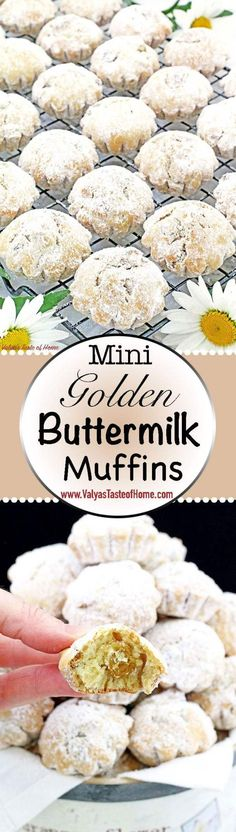 These Mini Golden Buttermilk Muffins become a quick favorite to those who try them as well. Pumpkin Cheesecake Muffins, Zucchini Chocolate Chip Muffins, Buttermilk Muffins, Banana Crumb Muffins, Winter Desserts, Fun Desserts, Best Dessert Recipes, Sweets Recipes, Amazing Recipes