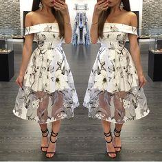 Leah print dress