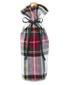 Classic Stewart Tartan Wine Bottle Tote #WilliamsSonoma