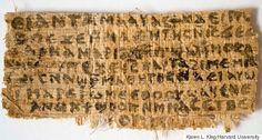 Com 8x4 cm, papiro encontrado em 2012 é alvo de muita polêmica (Reprodução)
