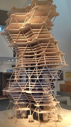 Louis Kahn's model of the City Tower Project. Taken at the Vitra Museum in Germany.