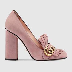 "Gucci ""Light Pink"" Suede pump"