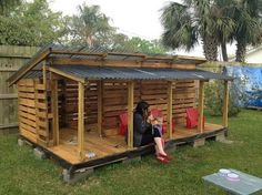 Image result for how to build a pallet playhouse