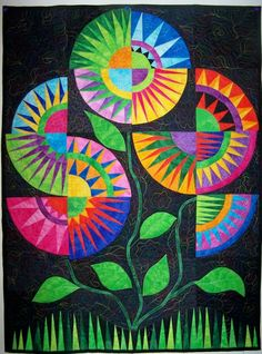 Summer Garden quilted wall hanging