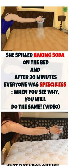 She Spilled Baking Soda On The Bed And After 30 Minutes Everyone Was Speechless: When You See Why You Will Do The Same! (VIDEO)