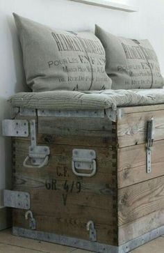 Vintage box bench