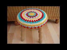 Очаровательные накидки или коврики на стул крючком - YouTube