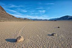 USA, California, Death Valley, Sailing Stones