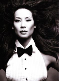 ♀ Black and white photography actress woman portrait - Lucy Liu