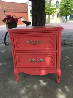 Refreshed French provincial side table