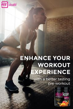 IdealLean Pre-Workout was created to take your training results to a whole new level of intensity. Formulated especially for women, IdealLean packs ingredients that maximize both the mental and physical aspects of training. Get yours today at idealfit.com and unlock your full potential.