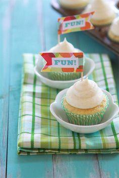 Very Vanilla Birthday Cupcakes with Vanilla Bean Cream Cheese Frosting