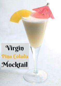 Best Mocktail Recipe, Easy Pina Colada Recipe, Pina Colada Mocktail, Virgin Pina Colada, Easy Drink Recipes, Healthy Crockpot Recipes, Yummy Drinks, Cocktail Recipes, Smoothie Recipes