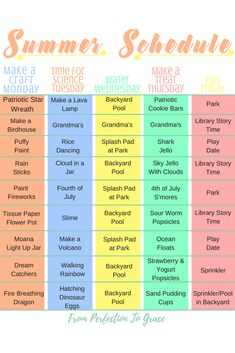 Summer Schedule For Kids with Printables!