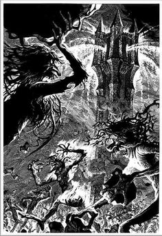 To Isengard! Though Isengard be ringed and barred with doors  of stone;  Though Isengard be stong and hard, as cold as stone and bare  as bone,  We go, we go, we go to war, to hew the stone and break the door;  For bole and bough are burning now, the furnace roars - we go  to war!  To land of gloom with tramp of doom, with roll of drum, we come, we  come;  To Isengard with doom we come!  With doom we come, with doom we come!