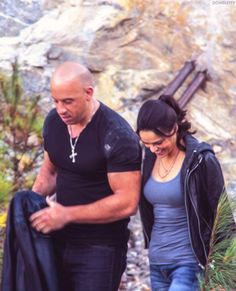 """domsletty: """" Vin Diesel & Michelle Rodriguez as Dom and Letty 