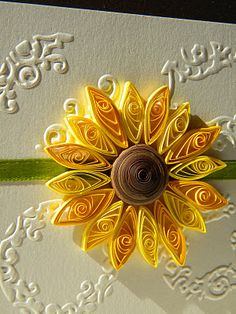 Quilling by Anca Milchis: Sunflower wedding invitation 2