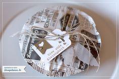 Kekse in Zeitungspapier verpackt - Stampin' Up! mit Stempelwiese