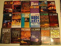 J. A. Jance.  Mysteries set in the Southwest, mostly Arizona