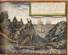 """Aden, Georg Braun's and Franz Hogenberg's """"Civitates orbis terrarum"""", published in six volumes from 1572 to 1617"""