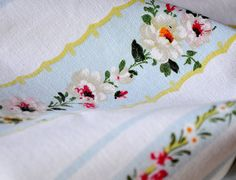 hand printed vintage french fabric