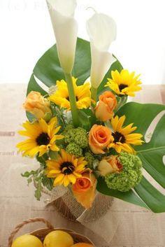 『ひまわりはお好きですか?』 http://ameblo.jp/flower-note/entry-10546145557.html