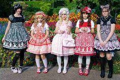 The Japanese lolita's.