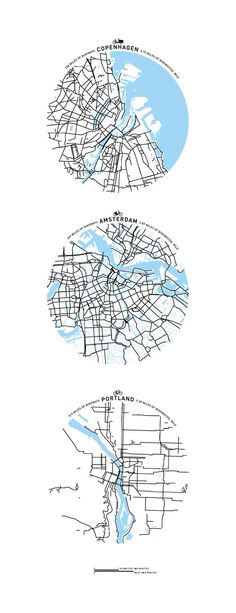 Maps of Bicycle Cities