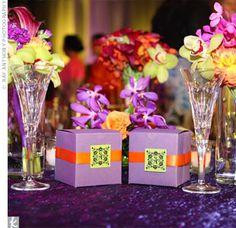 My colors...plus cute favor boxes!