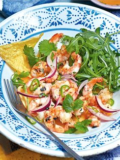 Add a fresh twist to a classic prawn salad with tropical passion fruit and crunchy tortillas. You can make this easy lunch recipe in just 30 minutes.