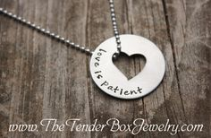 Personalized Love is patient open heart washer by TheTenderBox