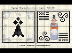 bretagne - breizh - logo - point de croix - cross stitch - Blog : http://broderiemimie44.canalblog.com/