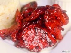 How to Make Tocino. Tocino is a breakfast dish that is popular in the Philippines. It is made of pork fat, typically coming from the pig's shoulder, rear, or loin. To make tocino, all you have to do is cure it in a mixture of delicious. Filipino Dishes, Filipino Recipes, Asian Recipes, Filipino Food, Ethnic Recipes, Asian Foods, Tapas, Pork Recipes, Cooking Recipes