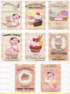 Delicious pictures for decoupage.  Cake