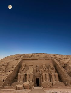 Day finish. Temple of Abu Simbel, Lower Egypt