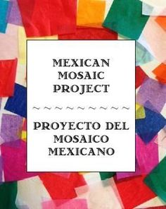 Mexican Mosaic Tile Project with Spanish color practice Middle School Spanish, Elementary Spanish, Spanish Classroom, Teaching Spanish, Elementary Education, Teaching Resources, Preschool Spanish, Spanish Phrases, How To Speak Spanish