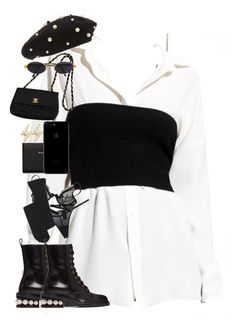 """""""You're my religion."""" by nikkischeper ❤ liked on Polyvore featuring Topshop, Acne Studios, Nicholas Kirkwood, Calvin Klein Underwear, EF Collection, Christies, Madewell, Chanel and Gianfranco Ferré"""