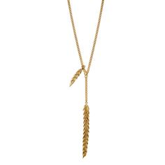 Gold wheat used in necklace from BERY collection by Anna Orska.