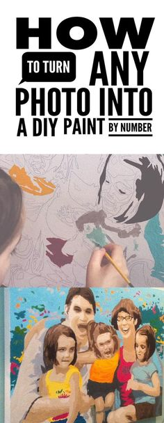 How to turn any photo into a DIY paint by number canvas - awesome tutorial!!!