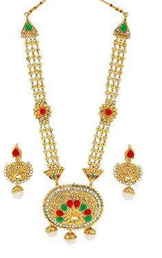 Zaveri Pearls Rajwada Haram Style Necklace Set-ZPFK1929