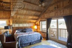 Bedroom with a view in a Sand Creek Barn Home