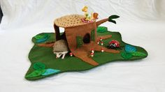 Wool Felt Tree Stump Playscape Play Mat by MyBigWorld2015 on Etsy